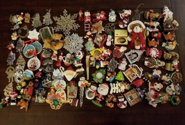Lot of 100+ Holiday Ornaments, Magnets, A Small Doll, and A Bobble Head,... - $29.65
