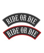 "Custom Embroidered 13"" Top Rocker RIDE OR DIE Sew On Patch - $14.50"