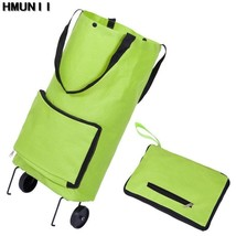 HMUNII® Folding Shopping Bag Shopping Trolley Bag On Wheels Bags - $16.72+