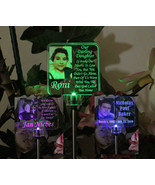 Personalized Solar Light with Photograph, Garden light, Grave marker - $44.00