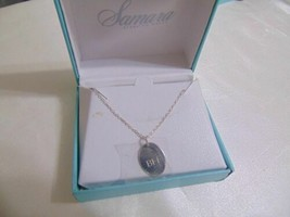 "Samara 18"" Sterling Silver Oval Best Friends Forever Pendant Necklace CM275 - $16.31"