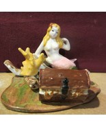 MERMAID UNDER THE SEA WITH REEF AND TREASURE CHEST FIGURINE - $23.70