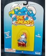 RARE! Smurfs 40228 Rocking Chair Papa Smurf with Pipe Vintage Figure PVC... - $57.41