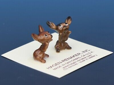 Hagen Renaker Dog Chihuahua Tiny Puppies Begging White Eye Figurine Set