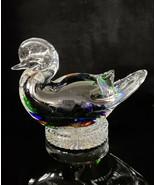 "Murano Art Glass Duck Figurine 5.5""H x 8""W Heavy - $54.23"