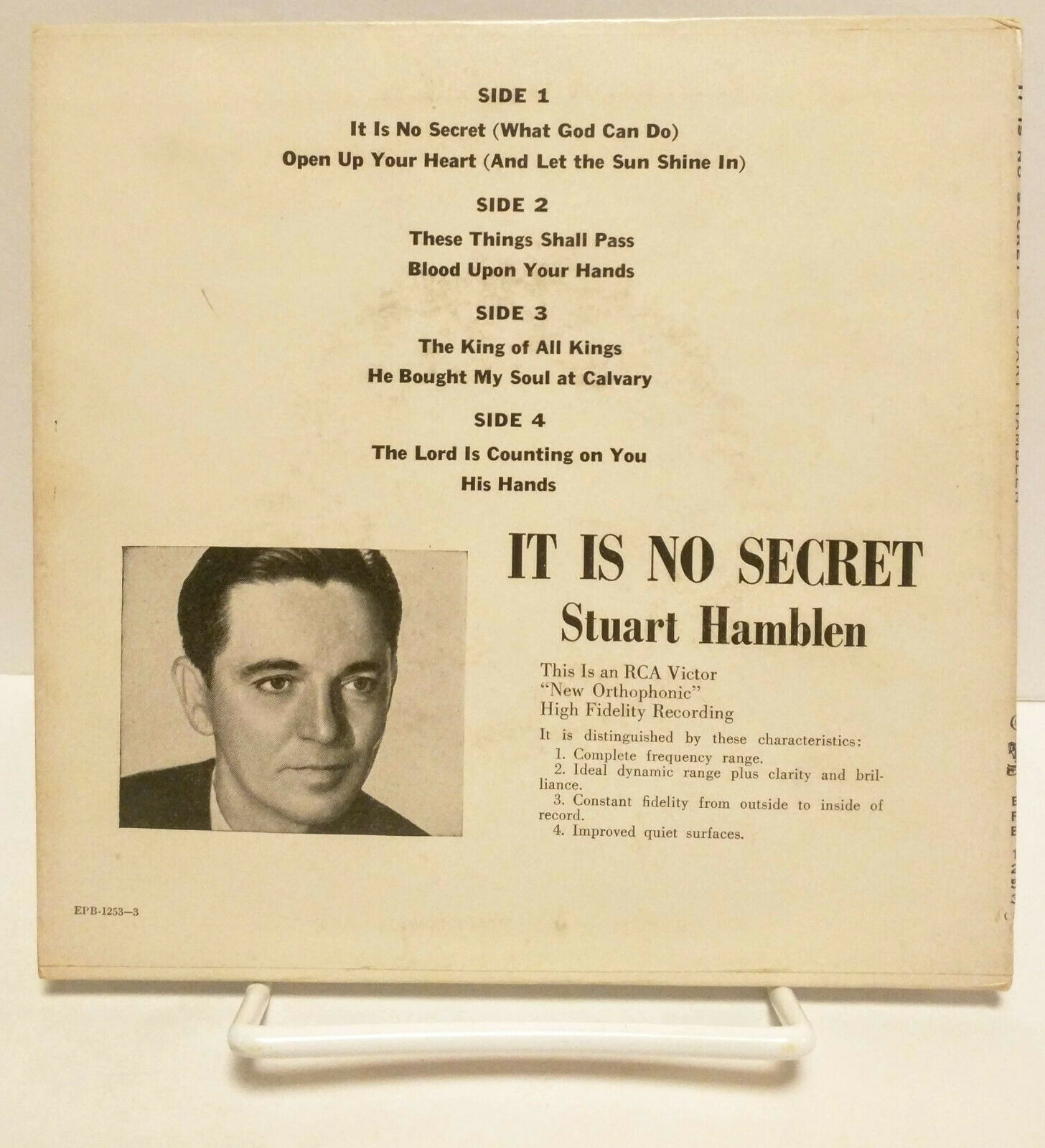 Stuart Hamblen It Is No Secret, RCA Victor EPB-1253, 45 rpm record set VG+/NM