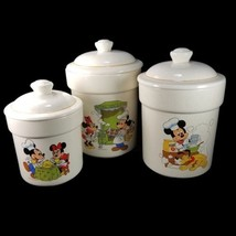Disney Mickey Minnie Mouse Ceramic Canister Set of 3 Cookie Jar Treasure... - $164.47