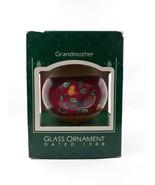 "3"" Hallmark Dated 1988 Grandmother Glass Christmas Ornament Bird Vintage NOS - $2.99"