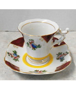 """NASCO JAPAN CUP AND SAUCER CUP IS ABOUT 2 1/2"""" TALL SAUCER 5"""" HAND PAINTED - $24.75"""