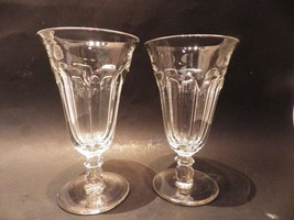 "(2) Heisey Colonial Clear Goblet Water Sundae  6.75"" H Perfect (Stem #373-341) - $27.72"