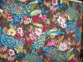 """Fabric Freedom fabric """"Peacocks"""" $7.50/yd w/FREE USPS 5+ yard orders - $7.50"""