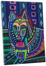 "Pingo World 0708QB311SM ""Heather Galler Belgian Sheepdog Dog"" Gallery Wrapped Ca - $43.51"