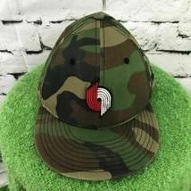 Portland Trail Blazers Boys Sz 6 3/4 Hat Camo Rip City Fitted New Era Ba... - $14.84