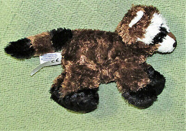 "Aurora World Mini Flopsies 6"" Raccoon B EAN Bag Stuffed Animal Brown Black Stripes - $9.90"