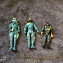 """Lot Of 3 Aqua Army Marines Lanard 2003 2010 Action Figures 4"""" Tall unmarked 3"""" - $17.99"""