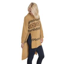 Muk Luks Women's Zigzag Tunic Sweater Camel S/M #NK1LJ-M810 - $59.99