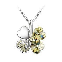 18k Gold Plated Austrian Crystal Womens Jewelry Necklace Pendant K170 A6... - $6.00