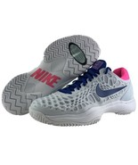 Womens Nike Tennis Shoes Size 8 Zoom Cage 3 Grey Pink Lace Non Marking O... - $129.95