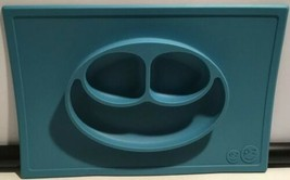 ezpz Happy Mat - One-piece silicone placemat + plate (Blue) - $24.70