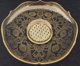 Antique Depression Glass Lancaster Topaz Yellow Landrum Lg Console Bowl ... - $39.54