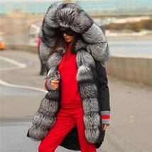 Top Quality Luxurious Fox Fur Collar lined Hooded Fox Parka Coat image 6