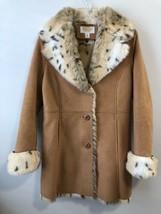 TALBOTS Coat Size 6 Petite Beige Faux Suede Machine Washable Euc - $49.49