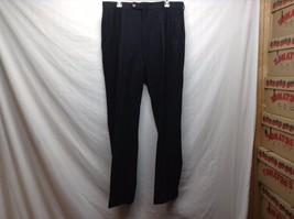 Men's Cuffed Black Wool Dress Pants by NAUTICA Sz 36W/34L