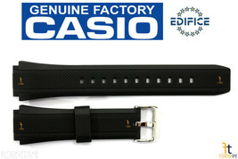 CASIO EF-552 Edifice 20mm Original Black Rubber Watch BAND Strap EF-552PB - $44.95