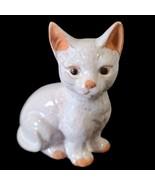 "White Kitten Cat Kitty Stoneware Figurine 5.25"" tall Home Decor Gift Vin... - $13.80"