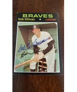 1971 TOPPS Autografato Scheda Bob Tillman Atlanta Braves Boston Red Sox ... - $39.94