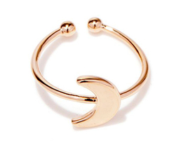 1 piece of Rose Gold Plated Moon Ring (JZ061B)XH - $2.50
