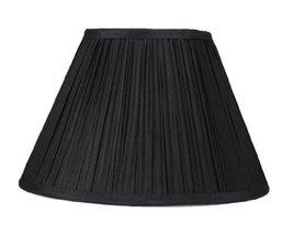 Urbanest Mushroom Pleated Softback Lamp Shade, Black Faux Silk, 16-inch ... - $49.49