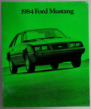 1984 Ford Mustang Lx Turbo Gt L Svo W/ Paint Chart Original Sales Brochure - $8.54