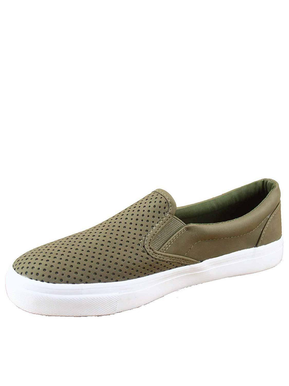 Soda Tracer-S Women's Cute Perforated Slip On Flat Round Toe Sneaker Shoes image 2