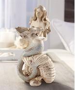 "Mermaid Tealight Candle Holder 11.5"" H Weathered look Nautical Seaside G... - $54.44"