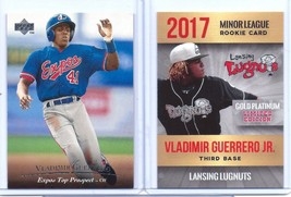 VLADIMIR GUERRERO JR. & VLADIMIR GUERRERO SR. 2004/2017 ROOKIE CARD LOT!... - $9.75