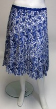roz & Ali Blue & White Ribbon Waist Cotton Skirt NWOT Plus Sz 18, 22 - $29.09