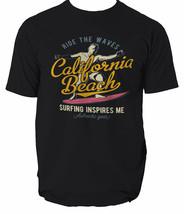 California Beach T Shirt Surf S Mens 3xl Retro Surfing Top Tee Unisex S-3XL - $12.38+