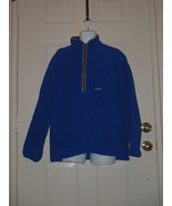 PATAGONIA SYNCHILLA Royal Blue Fleece 1/2 Zip Pullover Jacket Extra Larg... - $55.81