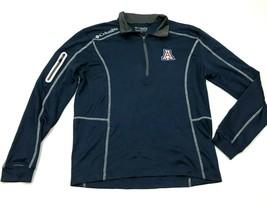Columbia Golf Arizona Wildcats Shirt Size Small S Blue Long Sleeve 1/4 Z... - $27.33
