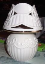 Lenox Ivory with Gold Trim Tea Light Lamp - $9.49