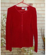 Red Button Down Sweater Cardigan size M - $11.40