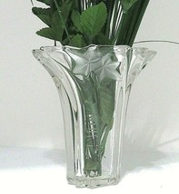 Mikasa Parisian Crystal Vase Ivy Swirl Clear & Frosted 6.25 Inch Made In Germany - $20.79