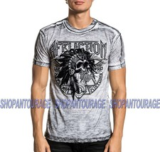 Affliction Sketch Tribe A20808 New Short Sleeve Fashion Graphic T-shirt For Men - $48.97