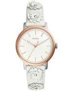 New Fossil Women Neely White Leather Strap Watch ES4383 - $85.26
