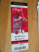 MLB Cincinnati Reds Full Unused Ticket Stub Arizona 8/21/15 (Paul O'Neill) - $2.92