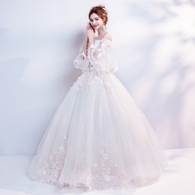 Stinning Sweet Lace Beaded Wedding Dress Ball Gown Cheap Women Bridal Go... - $120.00