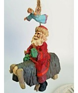 Hallmark Keepsake Ornament - Folk Art Americana - Guiding Santa - 1995 - $8.86