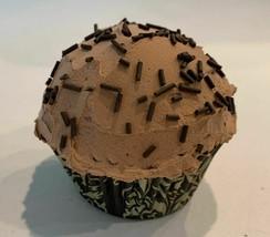 Chocolate Sprinkle Cupcake Faux Cupcake- fake home decoration prop - $8.41