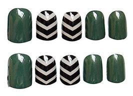 2 Boxes(48 Pieces) 3D Design False Nails/Elegant False Nails Sets, Dark Green